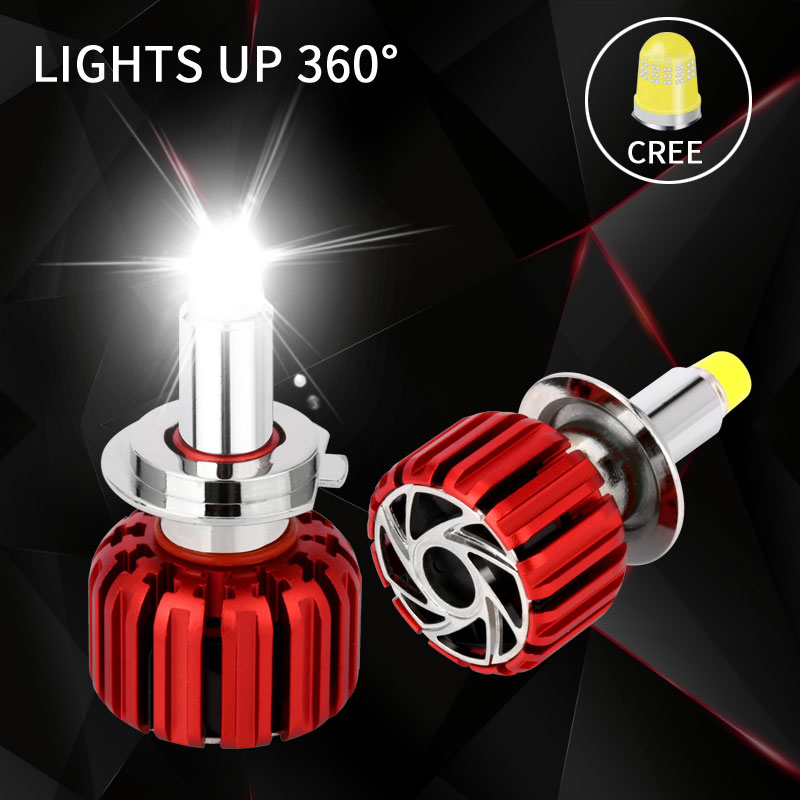 Auto Licht LED Scheinwerfer H7 Led-lampe Kit Turbo Led 360 Beleuchtung H1 LED H11 9005 9006 HB4 9012 HIR2 7000LM Kopf Lampe Für Auto