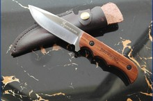 Camping 339 browning knife staninless steel hunting knife fixed blade  natural wild rosewood handle small knives