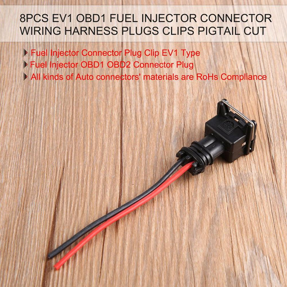 hight resolution of 8pcs fuel injector connector wiring harness plugs clips cut splice pigtail connectors wire for bosch