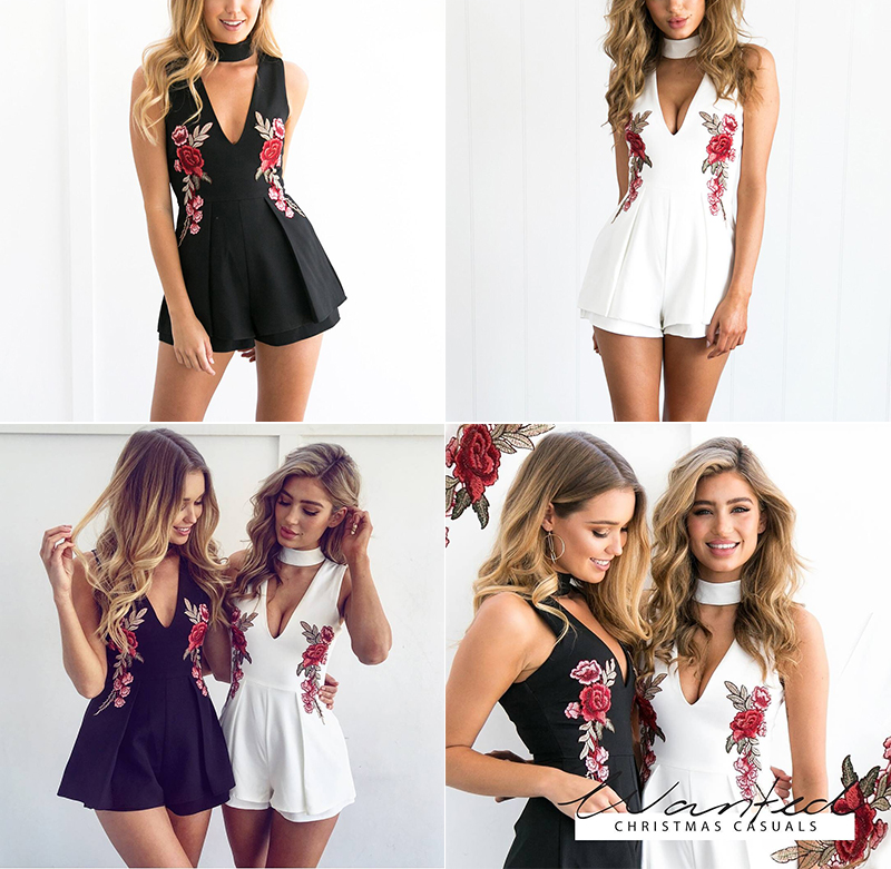 HTB1pta7OpXXXXaRXFXXq6xXFXXXY - V Neck Rose Embroidery Women Playsuits Sleeveless White Winter Rompers Jumpsuits Casual Beach PTC 303