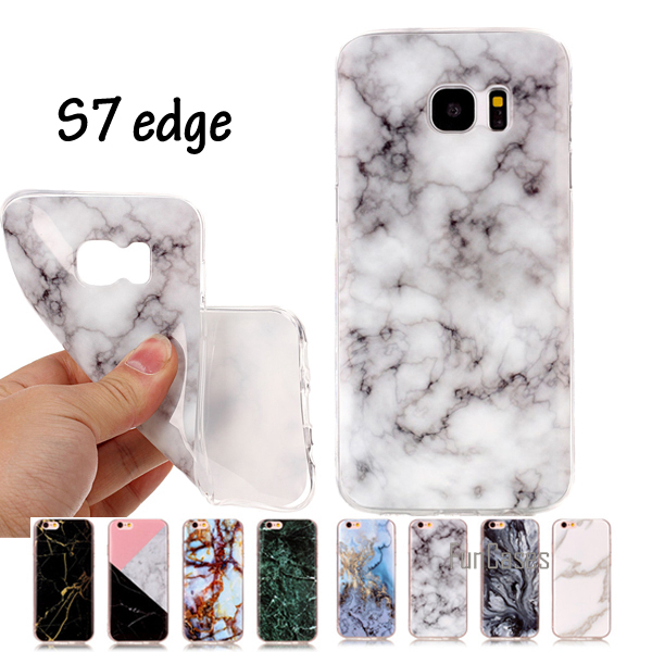 SM-G935 SM-G935F Cover Marble Effect Soft Silicon Case Cover For Samsung Galaxy S7 edge Cases TPU Capa Funda For Samsung S7 Edge