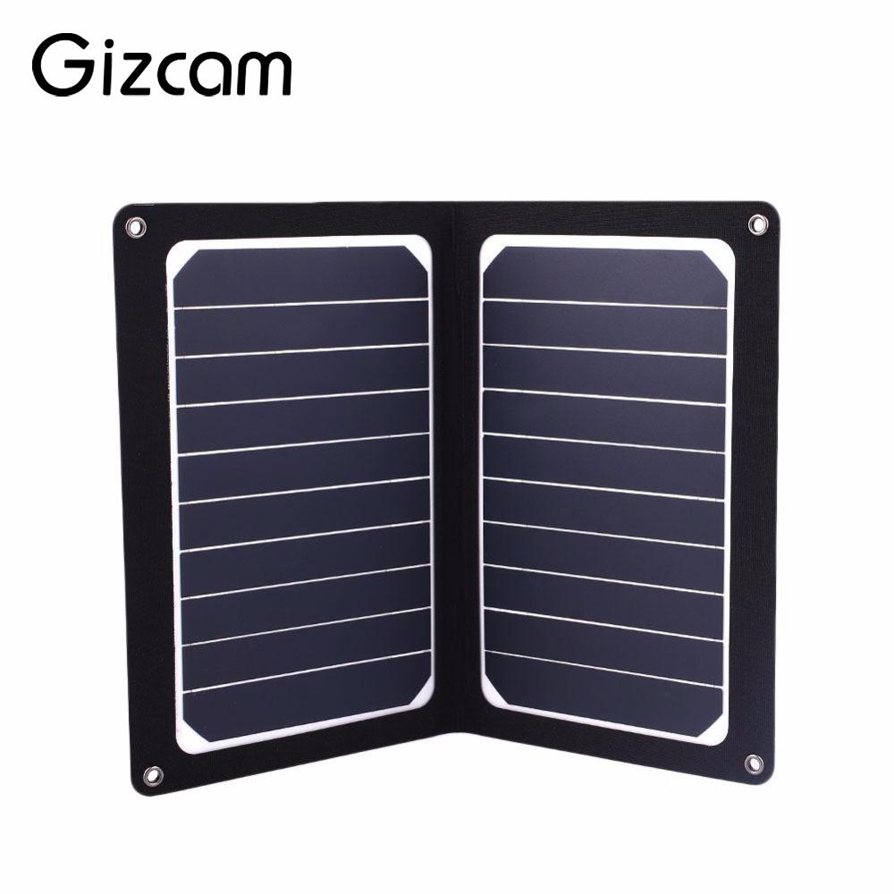 Gizcam 6V 10W Foldable Solar Panel Power Bank Portable Mobile Phone Charger Board Outdoor Travelling Power Supply Cell Module