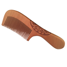 Professional Wooden Comb Handmade Natural Ox Horn Pear wood Comb Wooden Handle Combs Hair Style Designer For Ladies Great Gift natural shen guibao wood buffalo horn exquisite thick long handle wooden comb coarse teeth hair massage no static combs