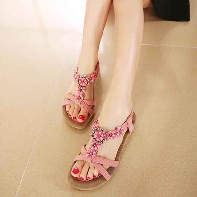 KUYUPP Big Size 44 Women Shoes Comfort Sandals Summer Fashion Flip Flops High Quality Flat Sandals Gladiator Sandalias YDT239