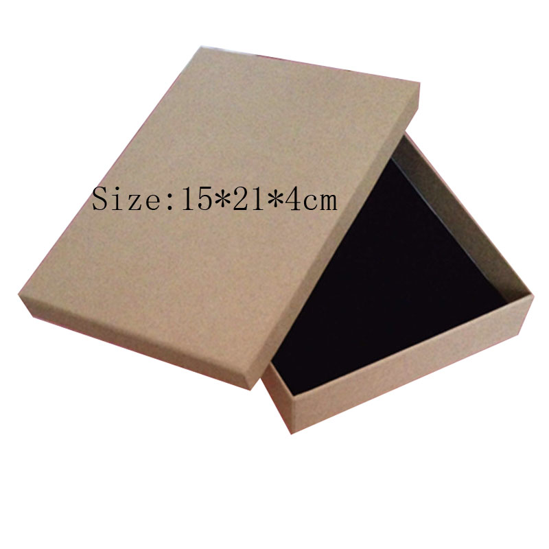 Box For Jewelry Free Shipping wholesale 12pcslot 21*15*4cm Kraft Paper Jewelry Sets Packaging Boxes Gift Wallet Packaging Box