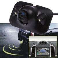 ユニバーサルリアビューカメラ防水広角車バック逆カメラccd 2 ledライトナイトビジョン駐車支援カメ