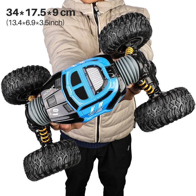 1/16 4WD électrique RC dérive voiture Rock chenille télécommande jouet 2.4G radiocommandé 4x4 conduire hors route voiture jouets pour garçons cadeau