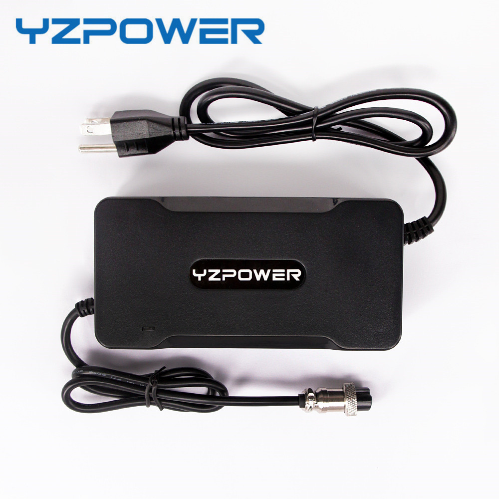 YZPOWER 42V 4A 4.5A 5A Lithium Li-ion Battery Charger For 36V Lipo Bike Power Tool Scooter Battery Pack
