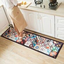 Этнический напечатанный набор кухонных ковриков грязеотталкивающий длинный ковер коврик для прихожей прикроватный коврик нескользящий водопоглощающий коврик для ванной комнаты