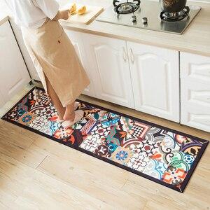 Image 1 - Ethnic Printed Kitchen Mat Set Dirty proof Long Carpet Hallway Doormat Bedside Floor Mat Non slip Water Absorption Bathroom Rugs
