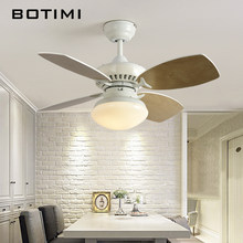 BOTIMI Nordic Ceiling Fan Lights Modern Cooling Fans For Living Room Dining Electric fan Bedroom Cooling Fan Fixtures Home light(China)