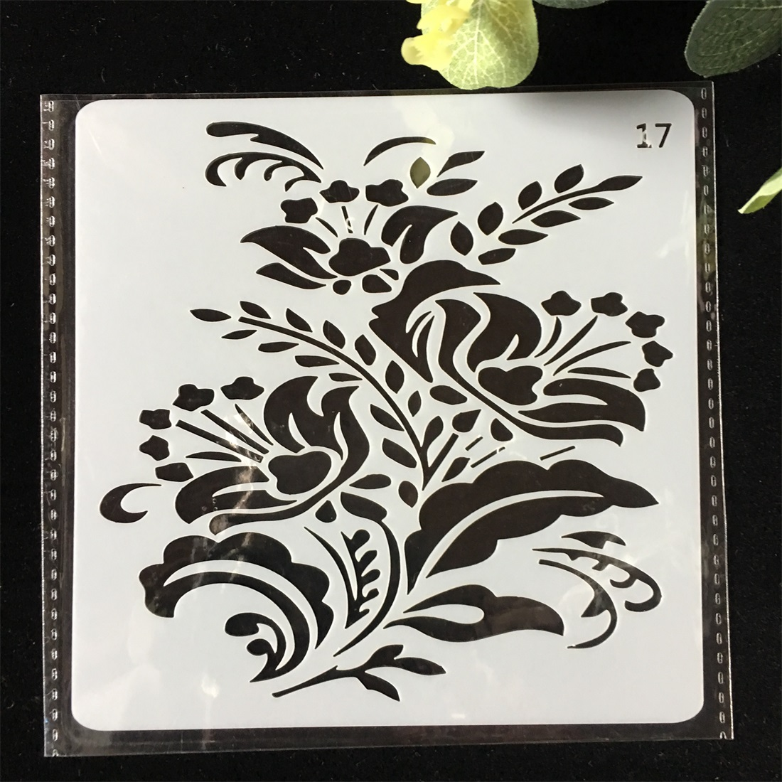 1Pcs 13cm Flower DIY Layering Stencils Wall Painting Scrapbook Coloring Embossing Album Decorative Card Template