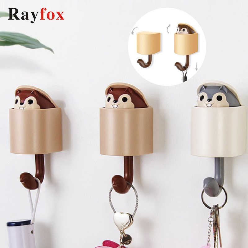 Bathroom Accessories Creativity Outstretch Squirrel Hook Coat Wall Hook Key Holder Wall Home Decoration Kitchen Hook Coat Hanger