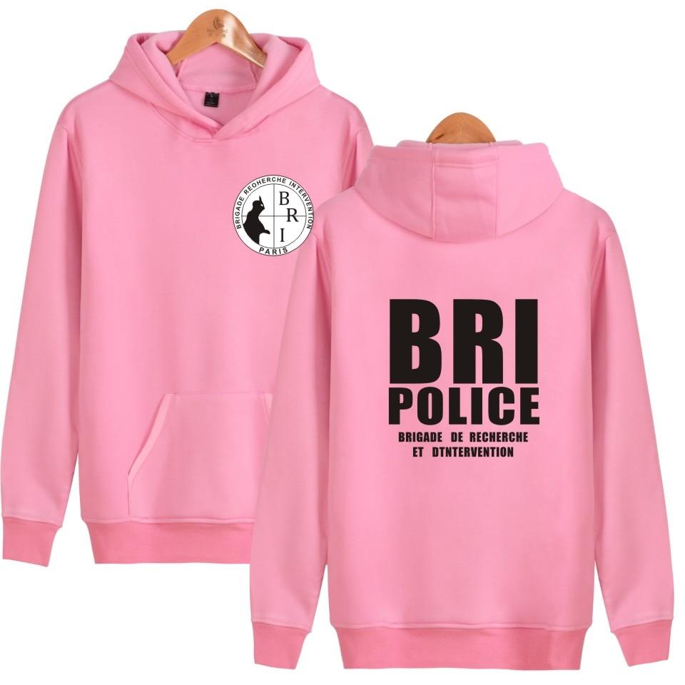 Aikooki BRI Police GIGN Gendarmerie Men Hoodies Fashion Hip-hop Kpop Men Hooded Sweatshirt Leisure Female Wenter Cap Clothes