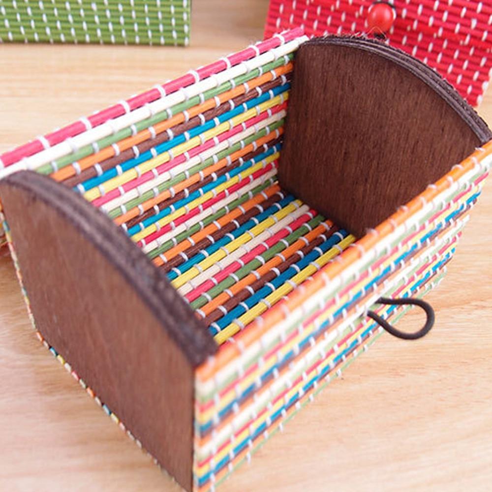 9*5.5*5.5cm Hot Bamboo Wooden Organizer Make Up Jewelry Box Ring Rack De Armazenamento Desk Organizer Holder Vintage Gift
