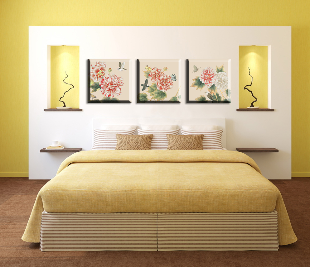 Aliexpress.com : Buy 3 piece chinese paintings flowers pictures ...
