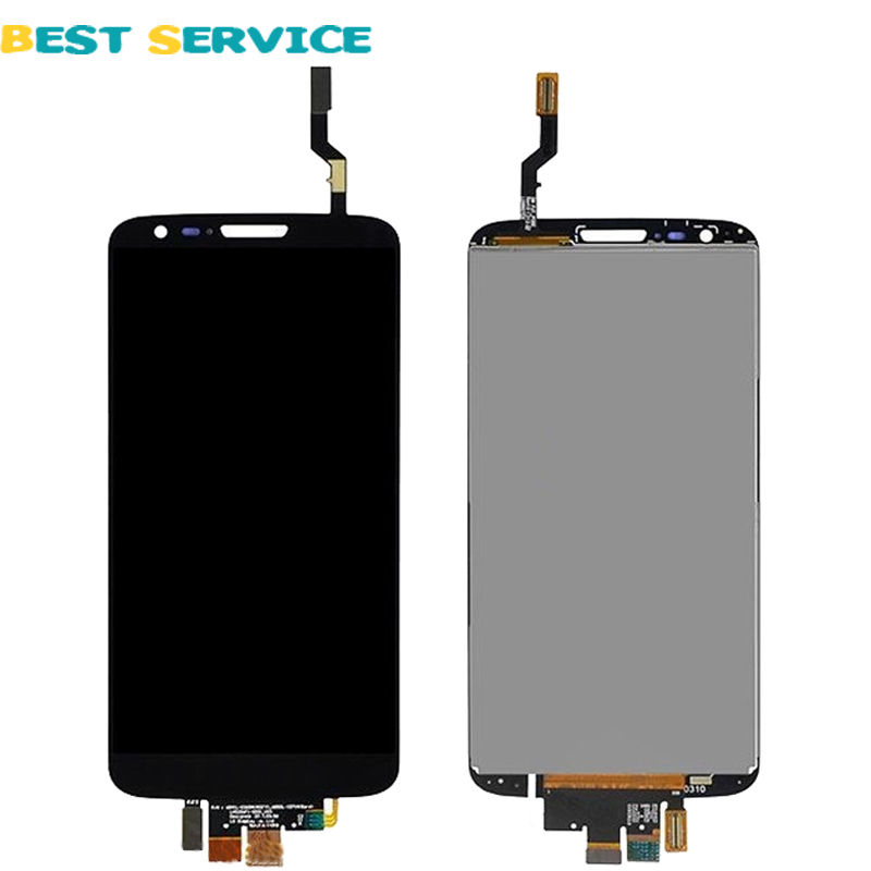 100% Tested For LG Optimus G2 D800 D801 D803 lcd screen display with touch screen digitizer Black assembly + tools free shipping daze сумки