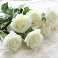 8 pcs Real Toque de Látex Rosa De Seda Flores Artificiais Hortênsias Buquê Nupcial Da Dama de Honra Flores Floral Wedding Party Home Decor