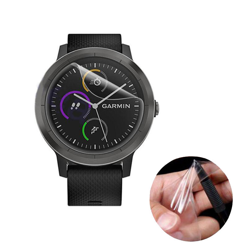 3pcs Soft Clear Protective Film Guard For Garmin Vivoactive 3 Smart Watch Vivoactive3 Full Screen Protector Cover (Not Glass)
