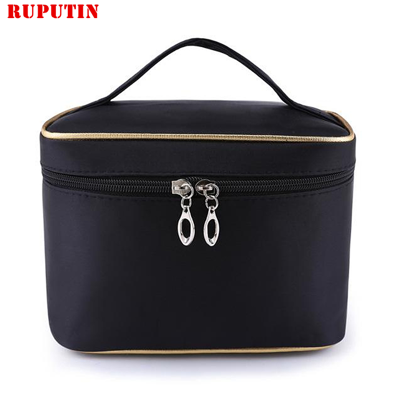 RUPUTIN Women Travel Cosmetic Bag Folding Waterproof Makeup Bags Zipper Wash Gargle Bag Portable Cosmetics Organizers Make-up