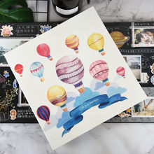 Creative pu leather cover family self-adhesive photo album DIY manual album 12 or 18 inch lovers love baby souvenir book(China)