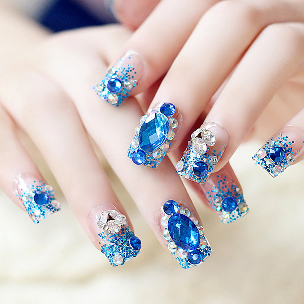 20000pcs/Bag 1.5mm Glitter DIY 3D Nail Art Rhinestone Decoration ...