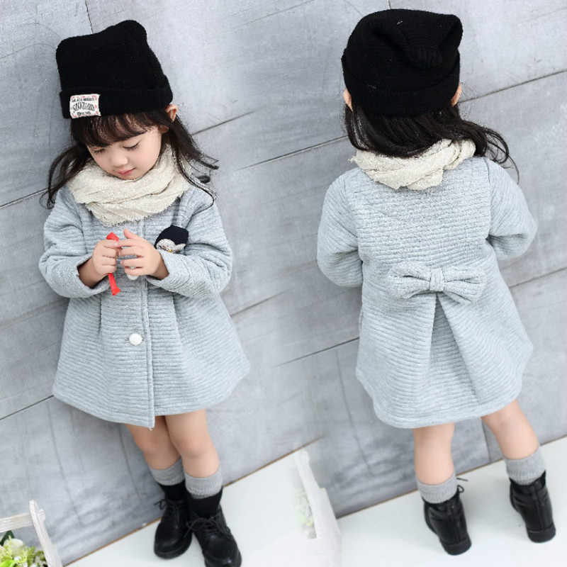 Autumn Baby Girl Outwear Winter Warm Kids Coats and Jackets Fashion Windbreaker Children Clothes Cotton School Girl Clothing