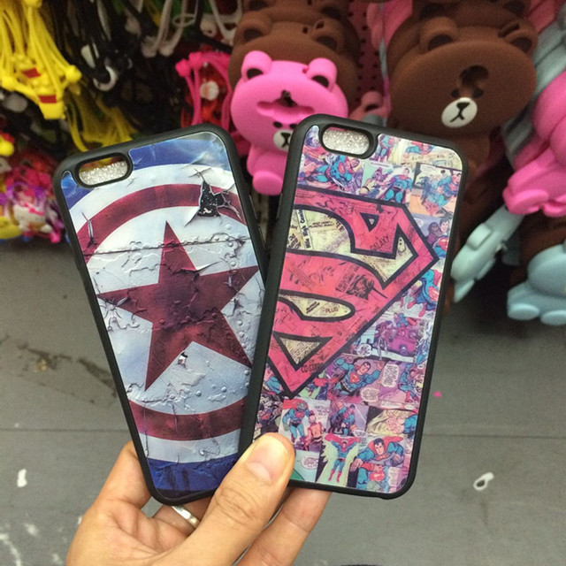 new concept f0b5d 9903a US $3.99 |Retro Camouflage Supreme Mirror Case for iPhone 6 6s Plus Cover  Superman Silicone Rubber Bag Case for iPhone 7 Plus Coque Fundas-in Phone  ...