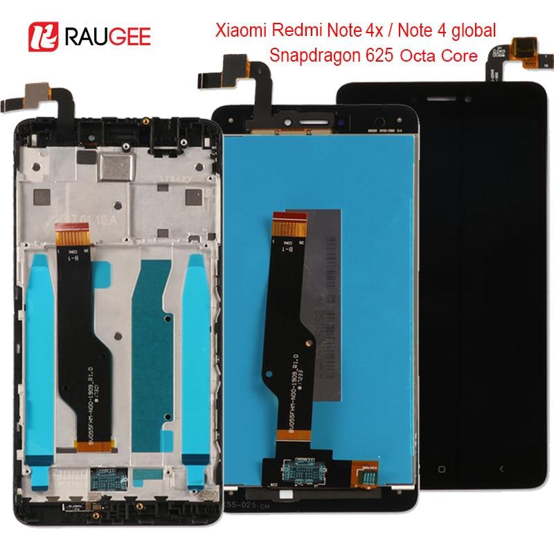 Per Xiaomi Redmi Nota 4X/4 Globale LCD Display Touch Screen di ricambio per Xiaomi Redmi Nota 4 Snapdragon 625 octa Core 5.5''