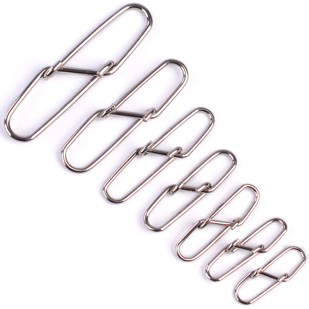 20pcs Stainless Steel Super Ribbed Pins Bait Pin Safety Pin Stainless Steel Fishing Hook Line Connector Snap Accessories