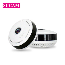 SUCAM 360 Degree Mini Wifi Camera 1080P Home Security Panoramic 10 Meters Night Vision Wireless Cameras Motion Detection Alarm