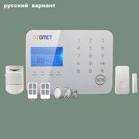 GZGMET Russia Android IOS Smart Phone App Allarme per Casa 99 Zone Della Tastiera di TOCCO di GSM di Sicurezza Domestica Sistema di Allarme Senza Fili