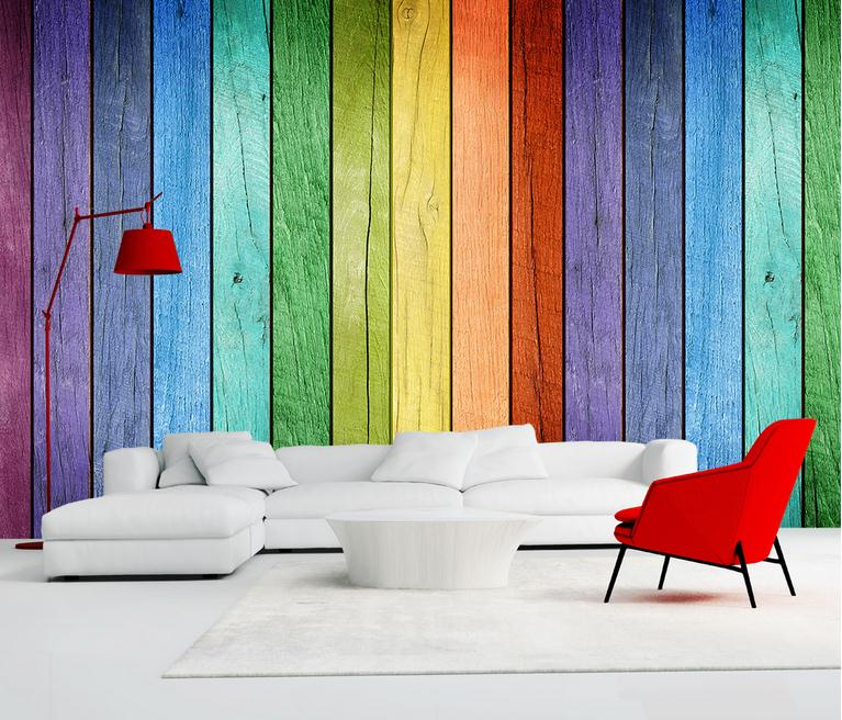 custom 3d wall papers high quality modern photo wallpaper living room TV background wall mural colorful desktop wood wallpaper
