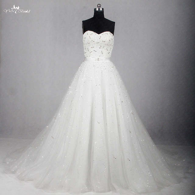 Wedding Dress Online.Us 247 68 Rsw1154 Sweetheart Neckline A Line Bling Ball Gown Wedding Dress Online Shop China In Wedding Dresses From Weddings Events On