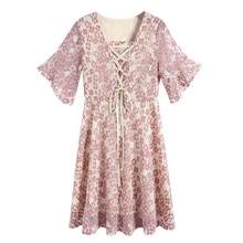 Dress Women Ukraine Sale Cotton Polyester 2019 Summer New Large Size Womens Wear Fat Mm Korean Edition Shredded Flower Slim