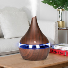 300ml USB Electric Ultrasonic Air Humidifier Aroma Air Diffuser Essential Oil Aromatherapy Wood grain Cool Mist Maker For Home цена и фото