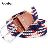 Goebel Men Fashion Belt knitted Pin Buckle Women Brand Belt Elasticity Casual Luxury Belts Unisex High Quality