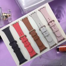 Apple Watch Band 38mm 42mm/40mm 44mm,Leather iwatch bracelet Series 1 2 3 4 Replacement Strap Wristbands Band For Apple Watch цена