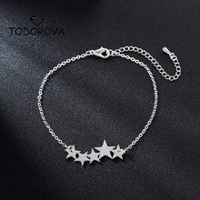 Todorova Trendy Five Star Bracelets for Women Delicate Pentagonal Pulseira Feminina Lovers Engagement Jewelry Femme Bijoux Gift