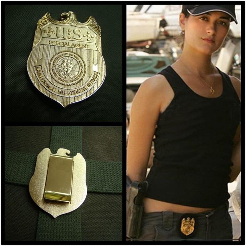 NCIS Badge Special Agents Naval Criminal Investigative Service Movie Full Metal Golden Replica Waist Badge Pin Halloween Cosplay