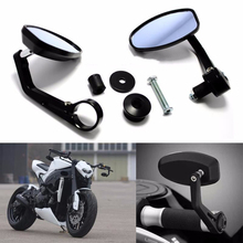 Motorcycle 7/8 Handle Bar End Rearview Side Mirrors Fit Ducati Yamaha KTM