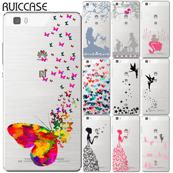 Tinker Bell Case For Coque Huawei P8 P9 P10 P20 P30 Lite Plus Mate 10 Pro Y5 Y6 II Y3 Y7 2017 Honor 9 6X 7X Butterfly Cover image