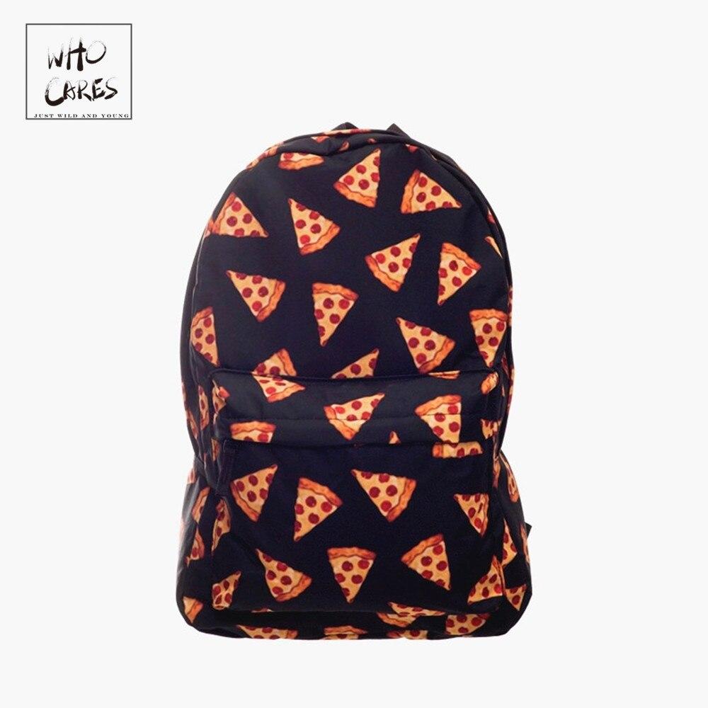 83861c6eab9c Черная пицца 3D печать рюкзак женский мочила рюкзаки Кто заботится новые  школьные сумки рюкзаки sac dos