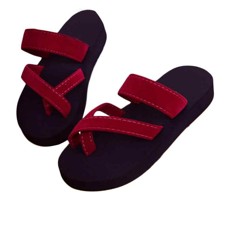 a25d38958c8f3d Women Casual Fashion Sandal Slippers Anti-skid Summer Beach Open Toe Shoes