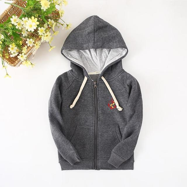 2016 New Children's Clothes For Boys  Thicken Hoodie Biker Jacket And Sweatshirts For Winter Base Shirt