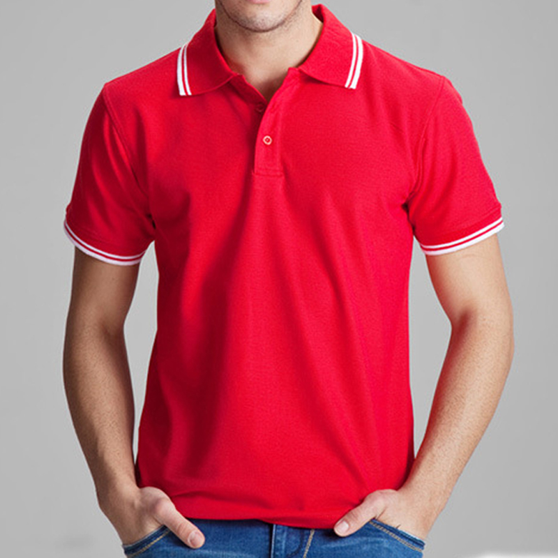 Brand clothing polo shirt solid casual polo homme for men for Man in polo shirt