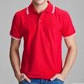 Marca de ropa de polo camisa de polo ocasional sólido homme para hombre Camiseta Tops de Algodón de Alta Calidad Slim Fit 102TCG Accpet personalizado