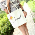 2017 Hot New Fashion Women Female Zipper Cartoon Printing Casual Soft Canvas Korean Students Shopping Bags Shoulder Bags