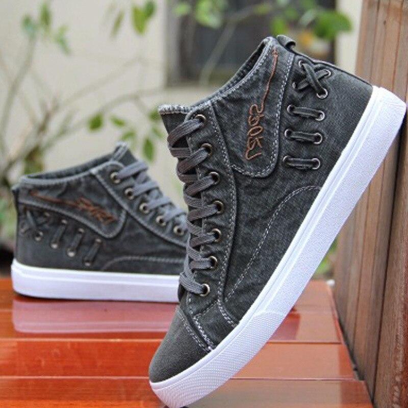 Hommes Jeunes Étudiants Des gris Pour Chaussures Sport Noir Toile De Chaussures Hommes bleu 8xq6nw1txz