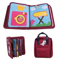 Baby Early Education Cloth Book Set Children's Sounding Paper Book Puzzle Toy Cloth Book And Gift Bag